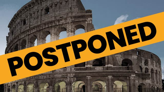 Custom Italy Tour is postponed